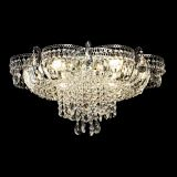 Люстра Камея №1, диаметр - 600 мм, цвет - серебро, Люстры Гусь Хрустальный