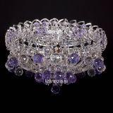 Люстра Катерина шар сиреневая, диаметр 450 мм, цвет серебро, Люстры Гусь Хрустальный
