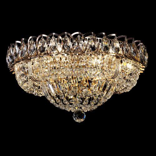 Люстра Кольцо Классика 400 мм, цвет: золото Гусь Хрустальный