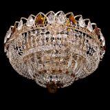 Люстра Кольцо Купол, диаметр 400 мм, с подвесками чайного цвета, Люстры Гусь Хрустальный