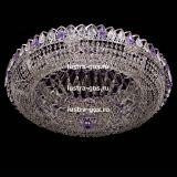 Люстра Кольцо Классика фиолетовая, диаметр 800 мм, цвет серебро, Люстры Гусь Хрустальный