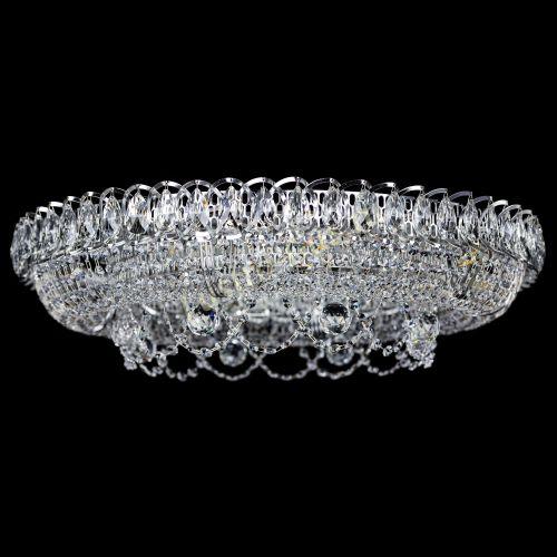 Люстра Снежинка, диаметр 700 мм, цвет серебро Гусь Хрустальный