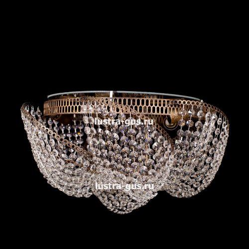 Люстра Космос 5 ламп, цвет фурнитуры: золото Гусь Хрустальный