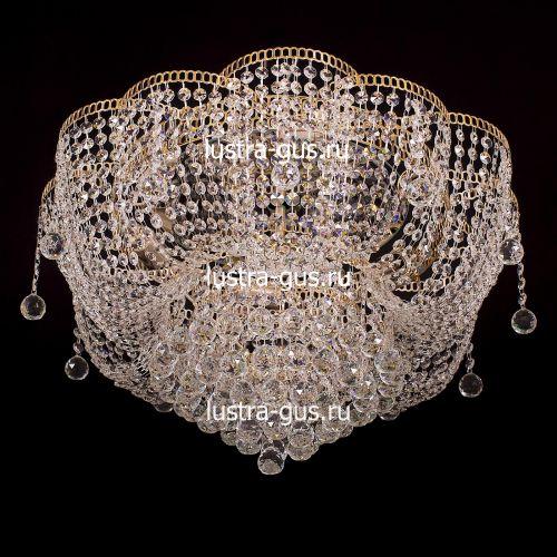 Люстра Лотос Александра, диаметр 600 мм, цвет золото Гусь Хрустальный