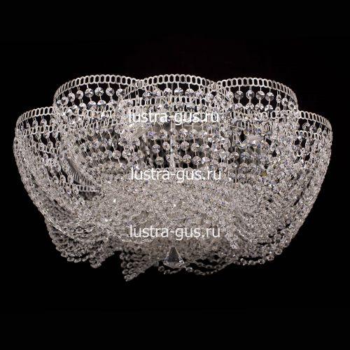 Люстра Лотос Елена, диаметр 700 мм, цвет серебро Гусь Хрустальный