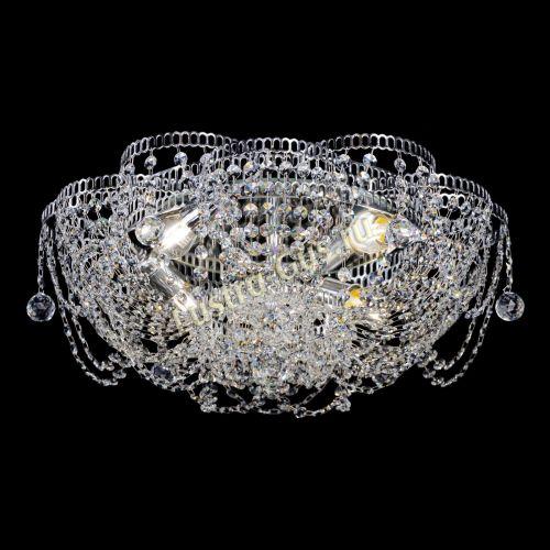Люстра Лотос Ольга, диаметр 500 мм, цвет серебро Гусь Хрустальный
