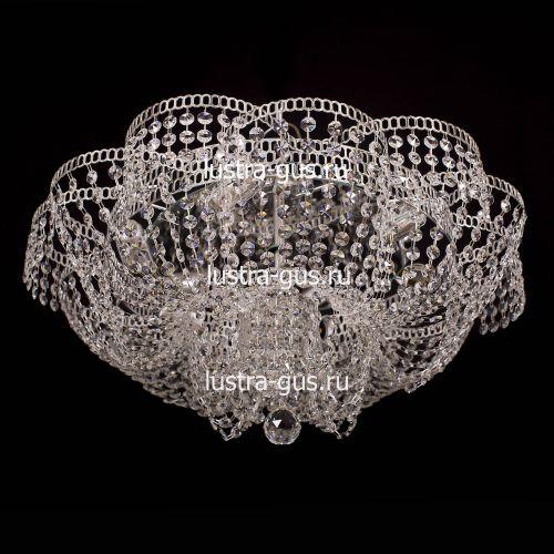 Люстра Лотос Пион, диаметр 600 мм, цвет серебро Гусь Хрустальный