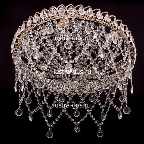 Люстра Паутинка, диаметр 500 мм, цвет золото Гусь Хрустальный