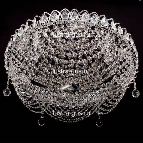 Люстра Роза Водоворот, диаметр 500 мм, цвет серебро Гусь Хрустальный