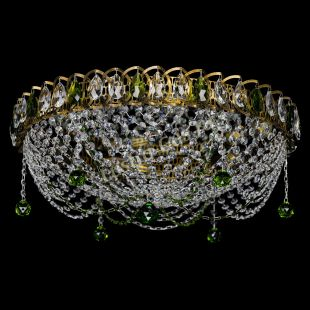 Хрустальная люстра Люстра Жасмин №1 под бронзу зеленая