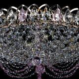 Люстра Жасмин №1 розовая, диаметр - 500 мм, Люстры Гусь Хрустальный