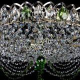 Люстра Жасмин №1 зеленая, диаметр - 500 мм, Люстры Гусь Хрустальный