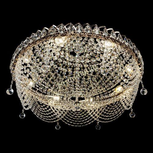 Люстра Жасмин №1, диаметр - 700 мм, цвет - золото Гусь Хрустальный